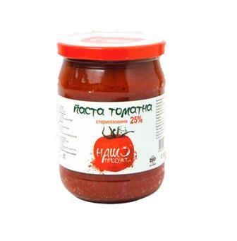 Паста Наш Продукт томатна 25% 500г