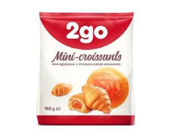 Міні-круасани 2go з начинкою апельсиновою, 180г