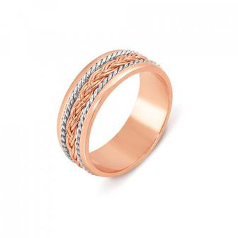 Обручальное кольцо комбинированное Артикул 1042