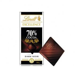 Шоколад чорний Excellence 70 % Lindt 100 г