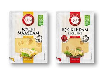 Сир напівтвердий Едам Маасдам» пластинками, 45% Ryki 135 г