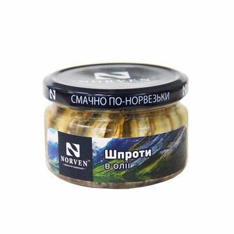 Шпроти в олії Норвен 210г