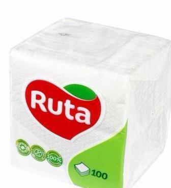 Серветки білі Ruta 100шт