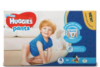 Підгузки-трусики Huggies для хлопчиків 4 (9–14 кг) 72 шт.