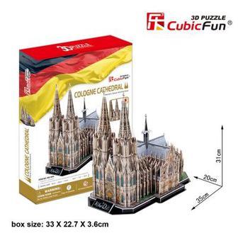 Трехмерная головоломка-конструктор CubicFun Кёльнский собор (MC160h)