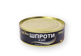 Консерви Шпроти в олії Своя лінія 240 г