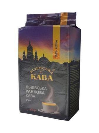 Кава Львівська Ранкова 250 г в зернах Віденська кава