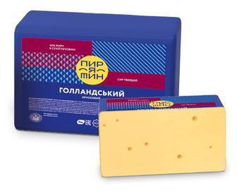 Сир Пирятин «Голландський» 45% жиру, кг