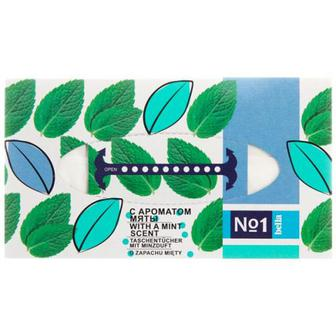 Хустки Bella №1 паперові універсальні з ароматом м`яти 150шт