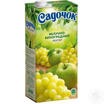 Нектар Садочок яблучно-виноградний 0,95л