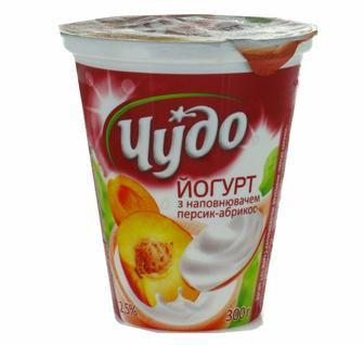 Йогурт Живий Персик-абрикос Чудо 300г