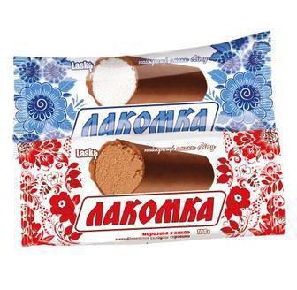Морозиво Лакомка в глазурі або з какао Laska 100 г