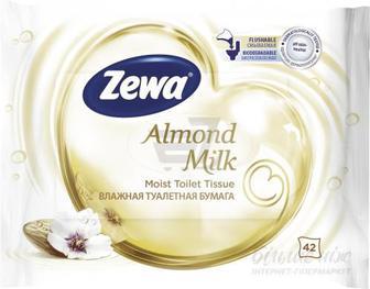 Вологий туалетний папір Zewa Almond Milk одношаровий 42 шт.