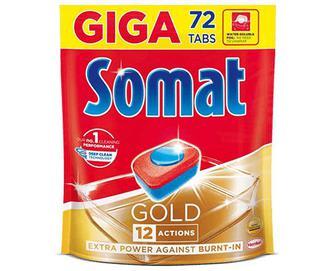Таблетки для посудомийних машин Somat Gold, 72шт./уп