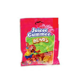 Цукерки жувальні Juicee Gumme ведмежата та ягоди/Тутті Фрутті 150г