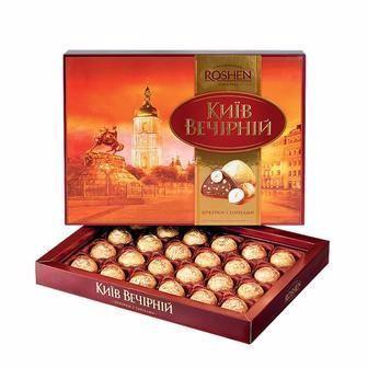 Конфеты шоколадные Киев Вечерний Roshen, 176г
