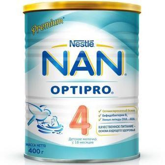 Смесь молочная Nestle NAN 4 (с 18 месяцев) 400 г