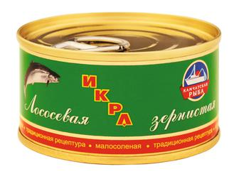 Икра красная лососевая Камчатская рыба 80 г