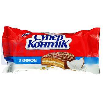 ПЕЧИВО «Супер Контік» шоколадний смак, з кокосом, 100 г КОНТІ