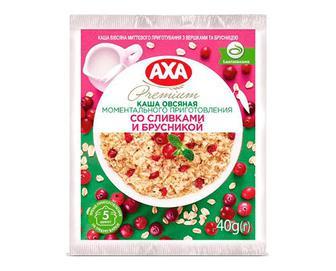 Каша AXA Premium вівсяна з вершками та брусницею, 40г